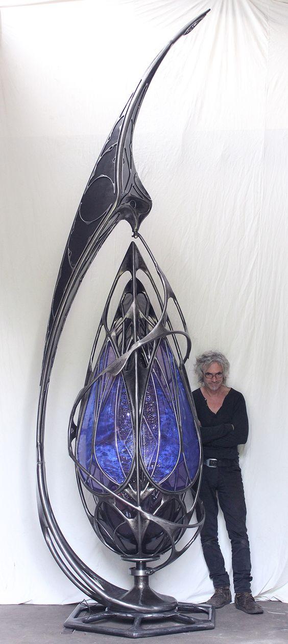 A giant kinetic piece of metal art